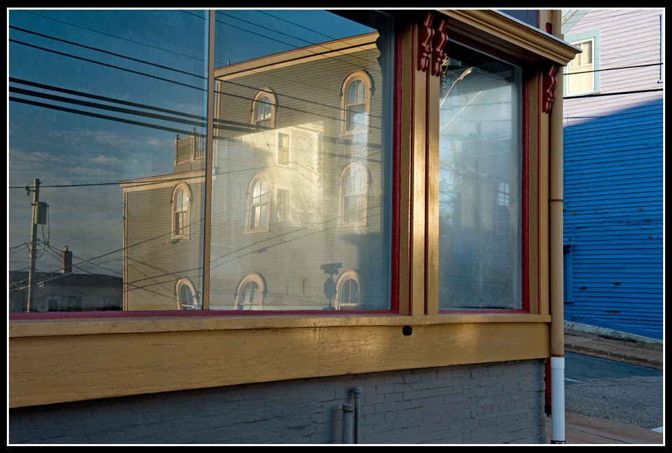 Nova Scotia; Lunenburg; Storefront; Reflection