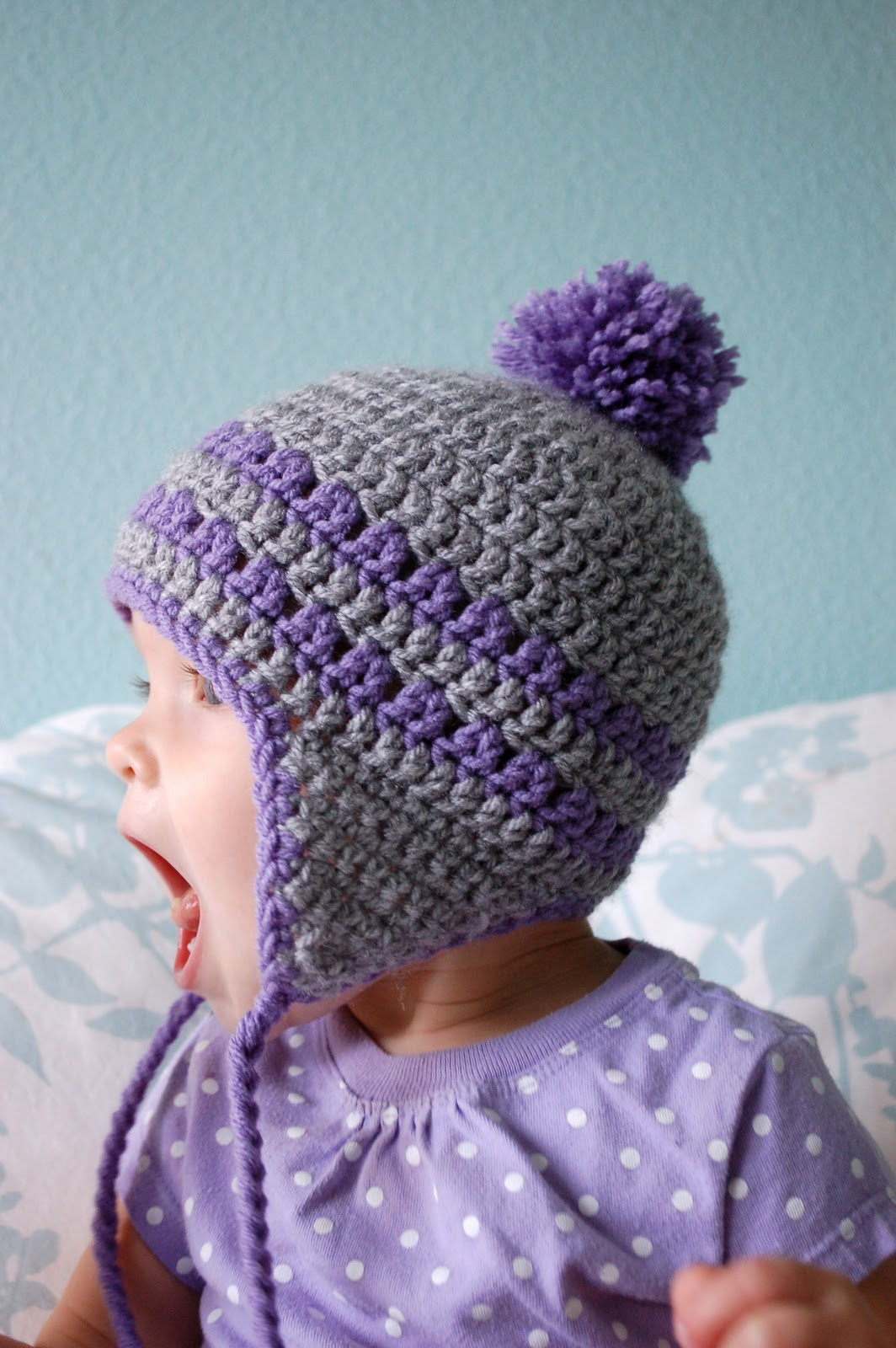 Free Crochet Patterns For Earflap Hats : Alli Crafts: Free Pattern: Earflap Hat - 9-12 Months