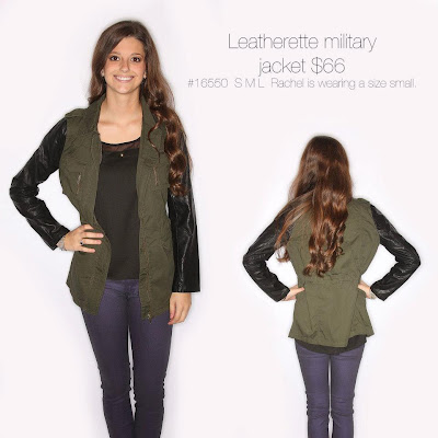 Leatherette Military Jacket from Riffraff; $66