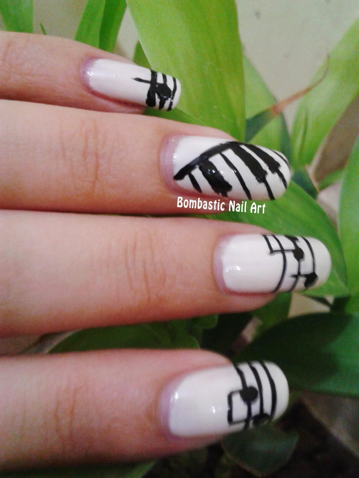 Day 24: Musical nails – Bombastic Nail Art