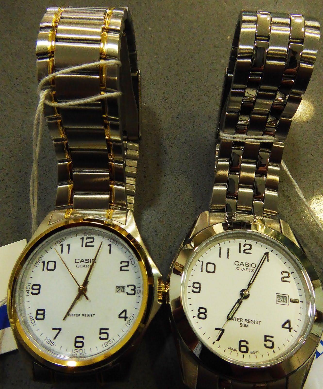 Relojes Casio, army acero plateado o bicolor.