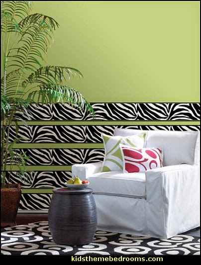 Zebra Wallpaper For Bedrooms Zebra Wallpaper Border...