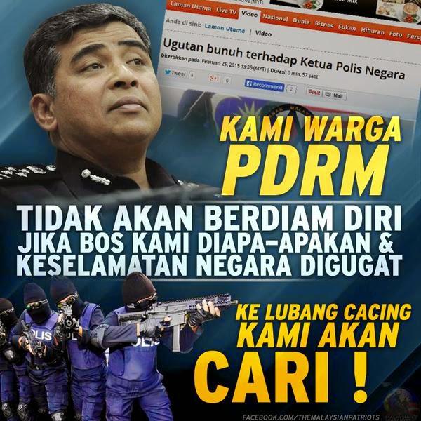 Ugutan Bunuh Ketua Polis Negara PDRM TEGAS