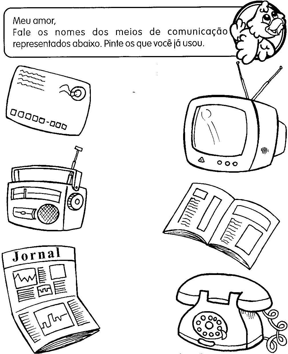 Colorir Desenho Computador Desenhos para Smartkids - imagens para colorir meios de comunicação
