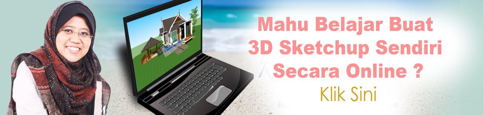 Daftar belajar kelas santai online 3d sketchup