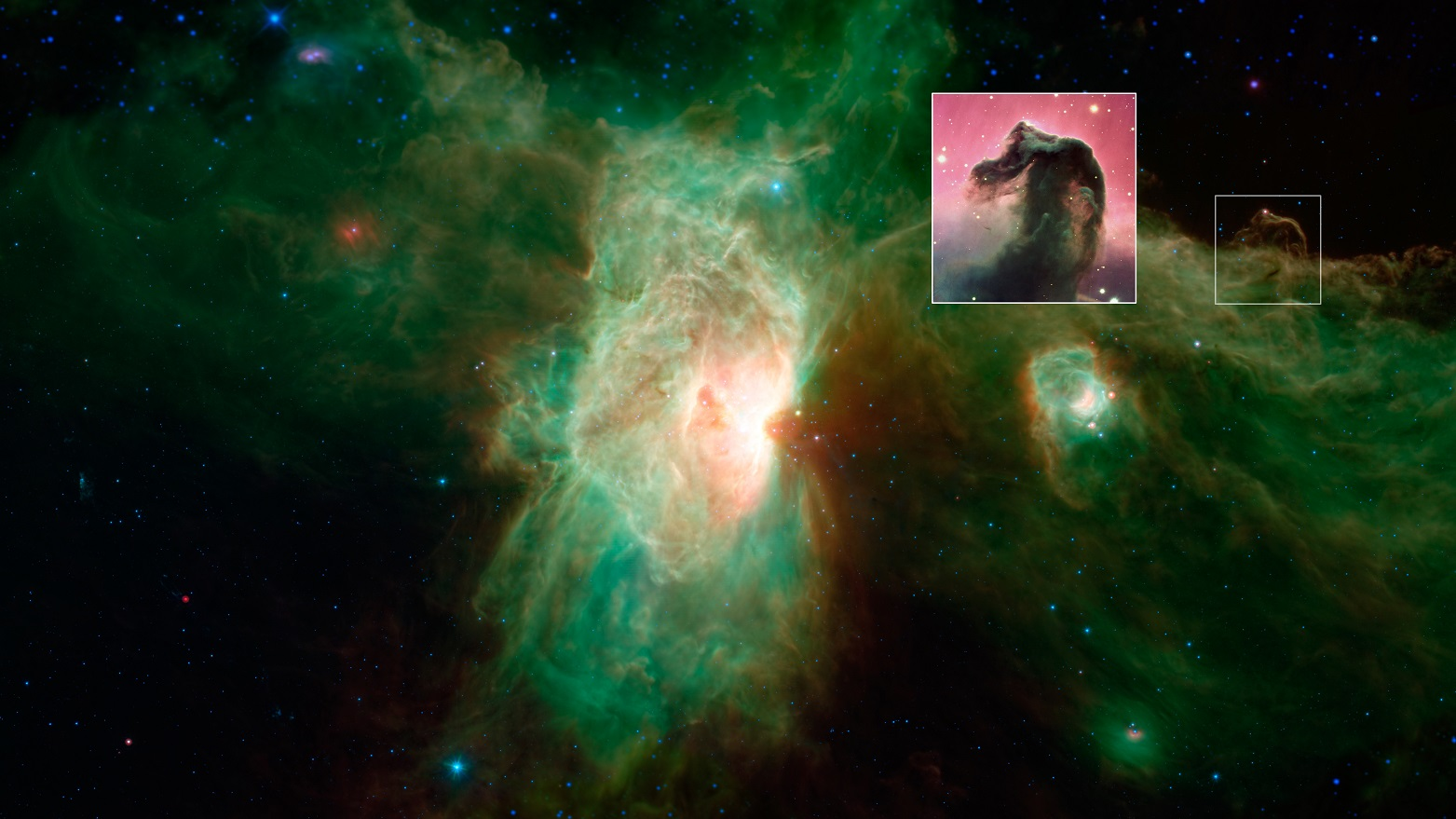 Horsehead Nebula in Infrared Light