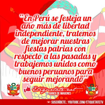 imágenes + Mensajes por fiestas patrias del peru