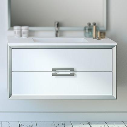 precio Mueble baño satinado bicolor mate