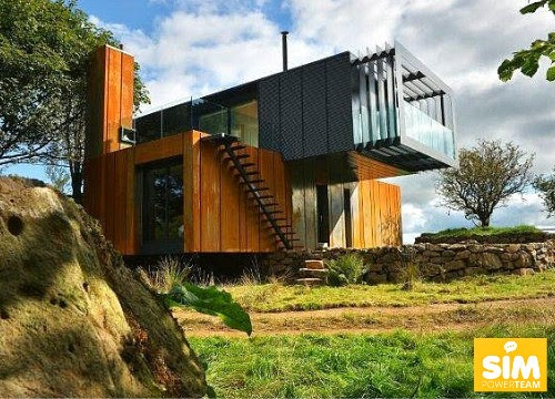 European marketing network just four shipping containers makes the most beautiful container - Most beautiful shipping container guest house ...