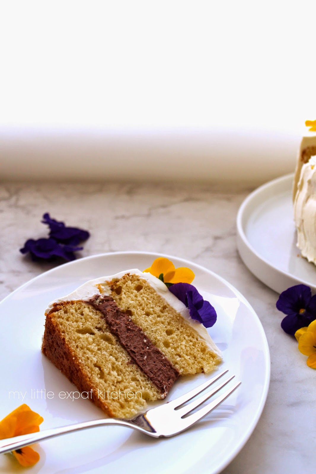 Expat Kitchen: Vanilla layer cake with chocolate-mascarpone filling ...