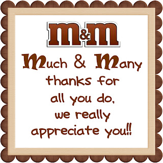 We Love Being Moms Candy Bar Printables: thanks for all you do gifts