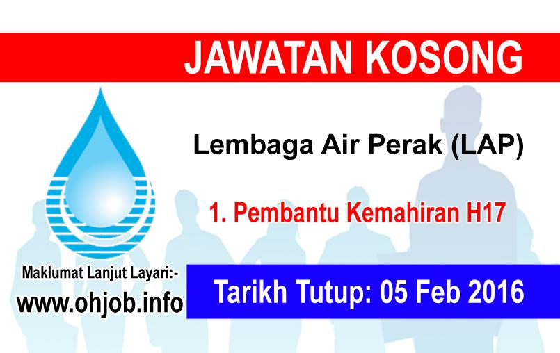 Jawatan Kerja Kosong Lembaga Air Perak (LAP) logo www.ohjob.info februari 2016