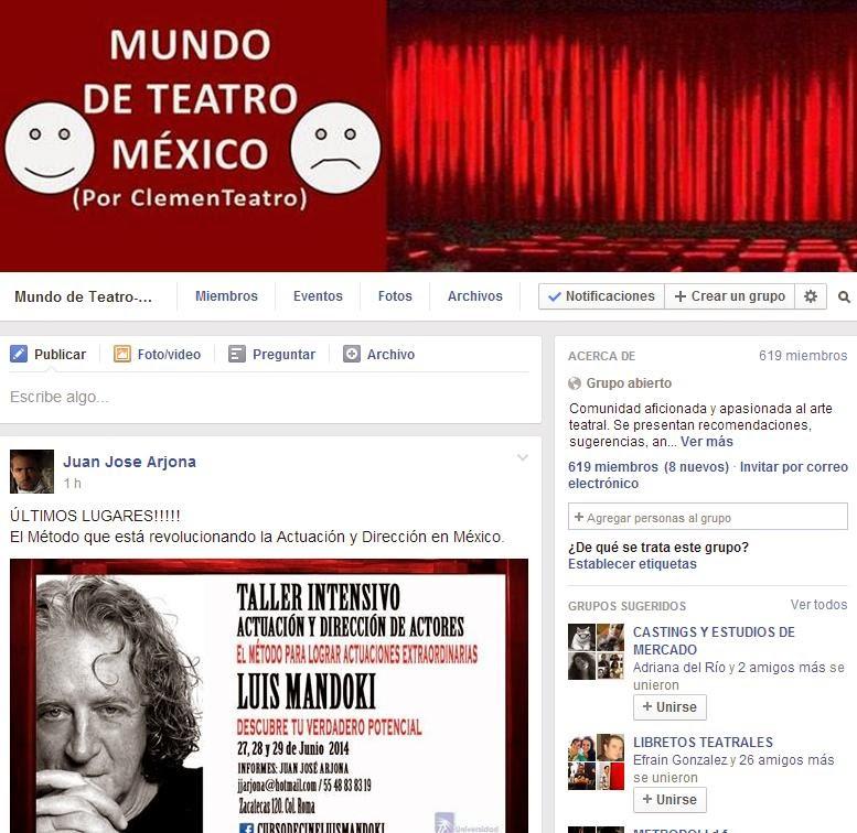 Mundo de Teatro-México (por ClemenTeatro) Grupo en FB