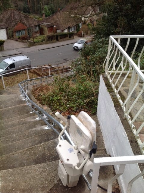 External Stairlifts supplied and installed by Dolphin Lifts