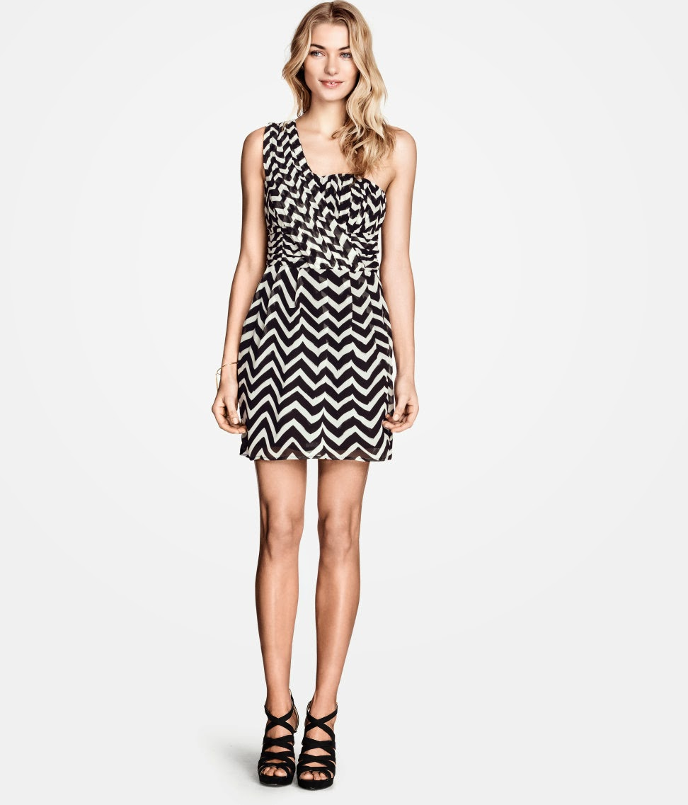 tek+omuzlu+elbise H & M 2014 Sommer Kleidung Models