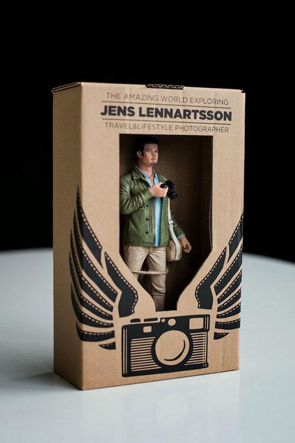 GI Jens - cartão de visita criativo de Jens Lennartsson