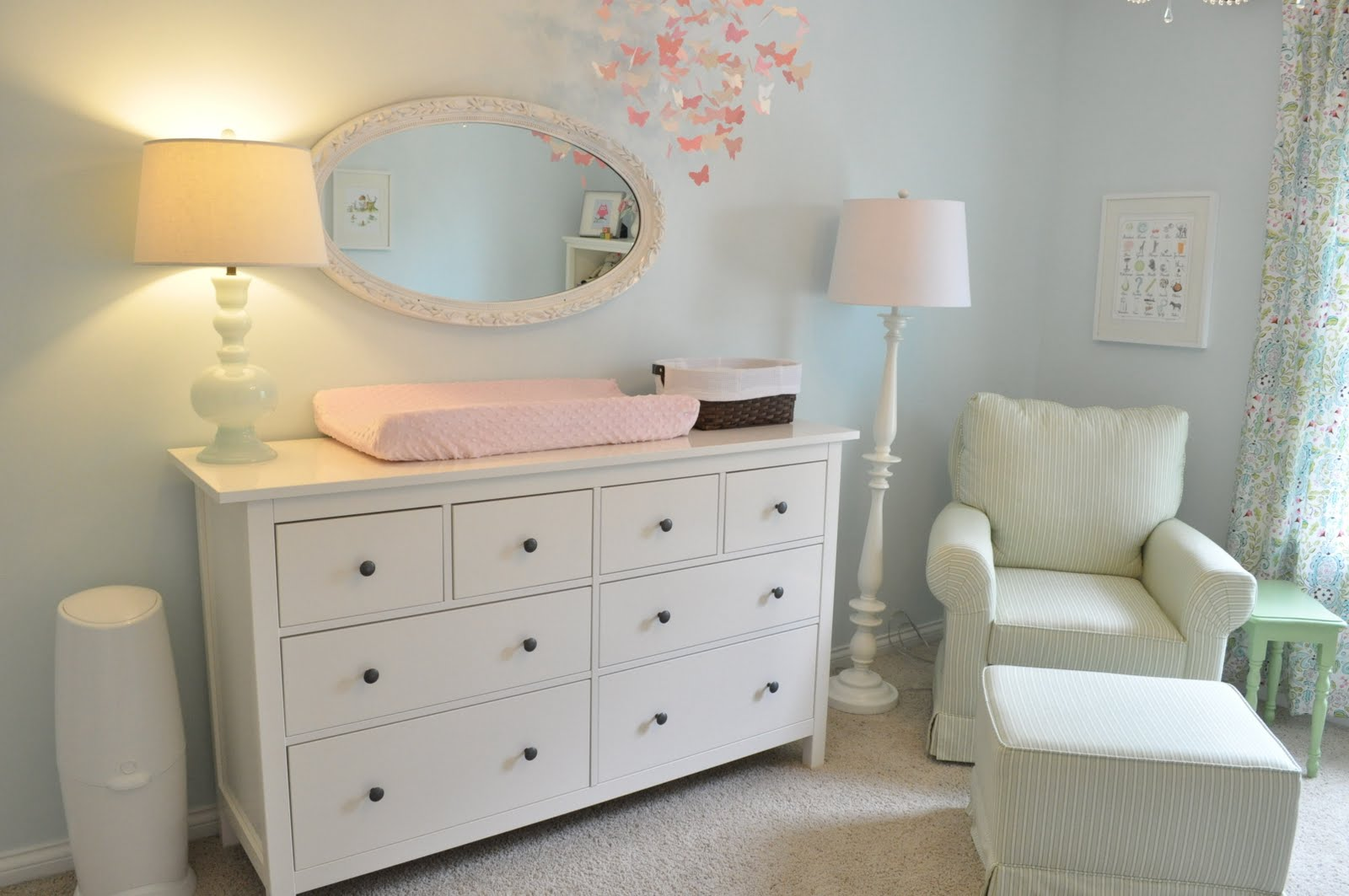 Ikea Dresser As Changing Table ~ Anyone have pics of Ikea Hemnes dresser in nursery? — The Bump