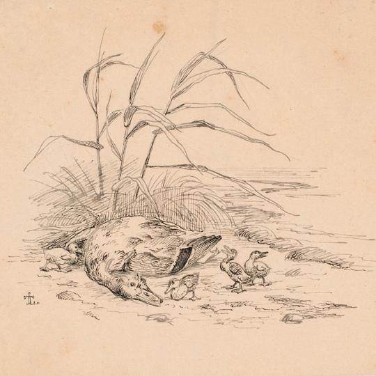 Johan Thomas Lundbye: Den dræbte vildand