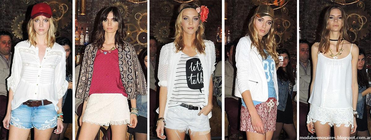 Shorts moda verano 2015. Inédita primavera verano 2015.