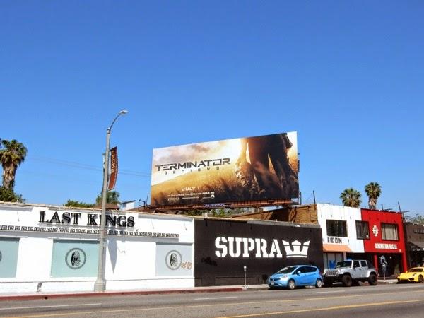 Terminator Genisys movie billboard