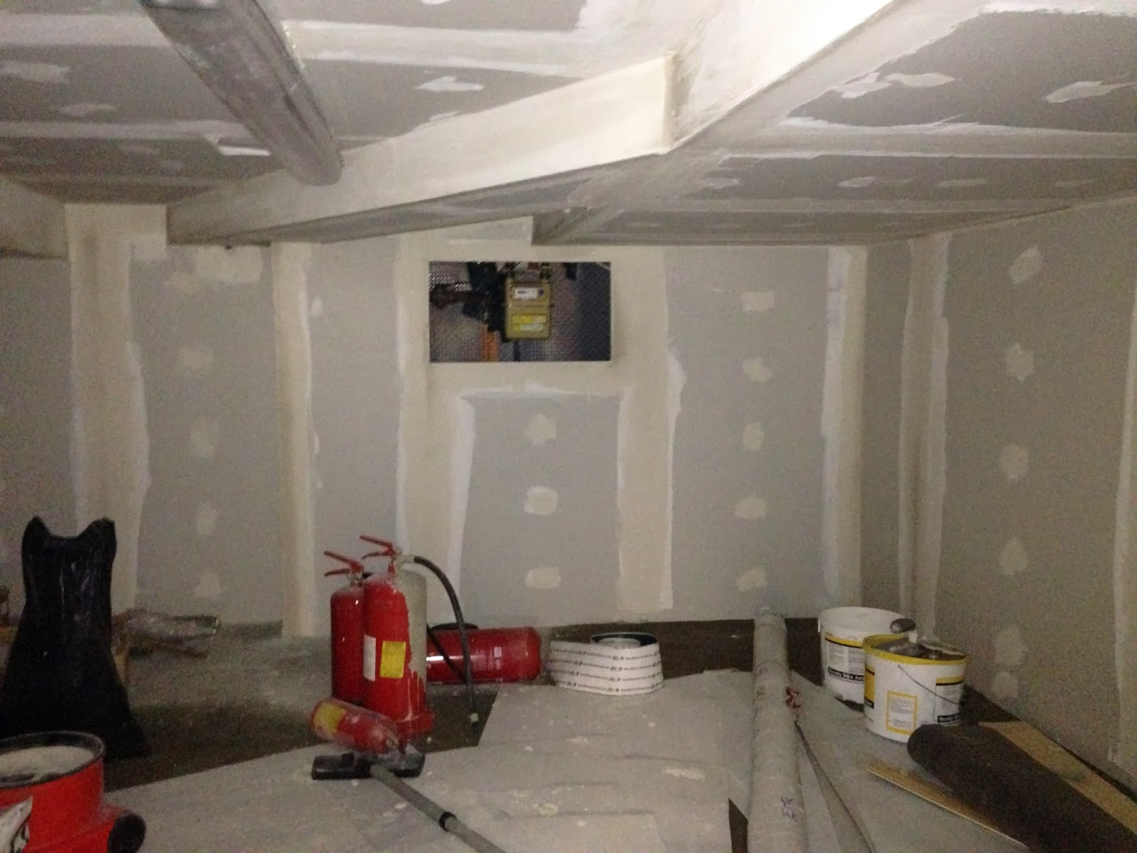 jointing complete to basement awaiting hatch to gas meter location