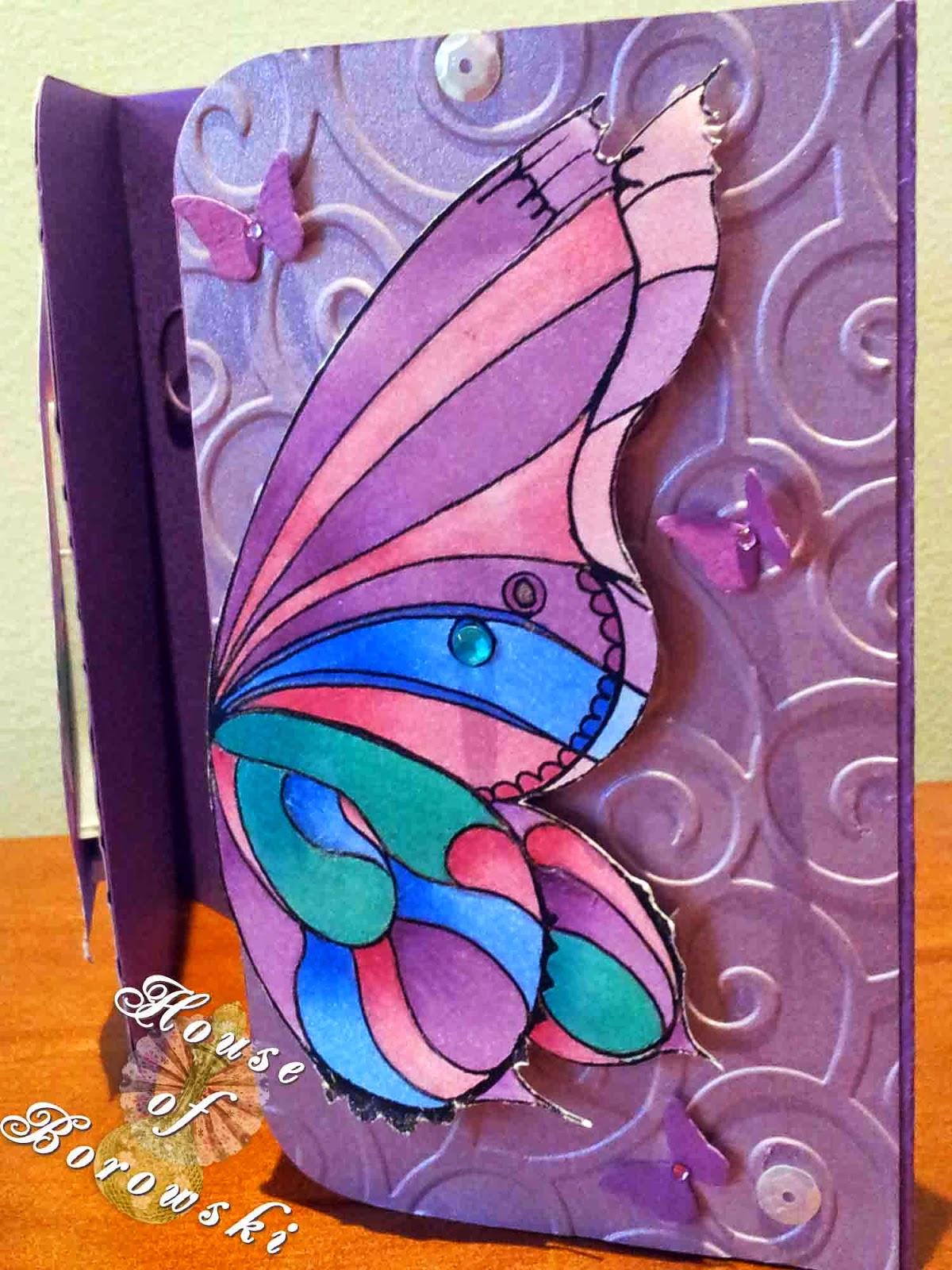 HOB,Fitztown, gatefold, Fitztown Fae18,Gina K Hello Sunshine,Copics MFT Die-namics fancy flourish, MPress curved rectangle,Cuttlebug divine swirl embossing folder
