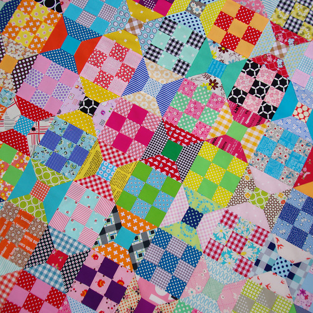 Spool and Nine Patch Quilt & Tutorial | Red Pepper Quilts