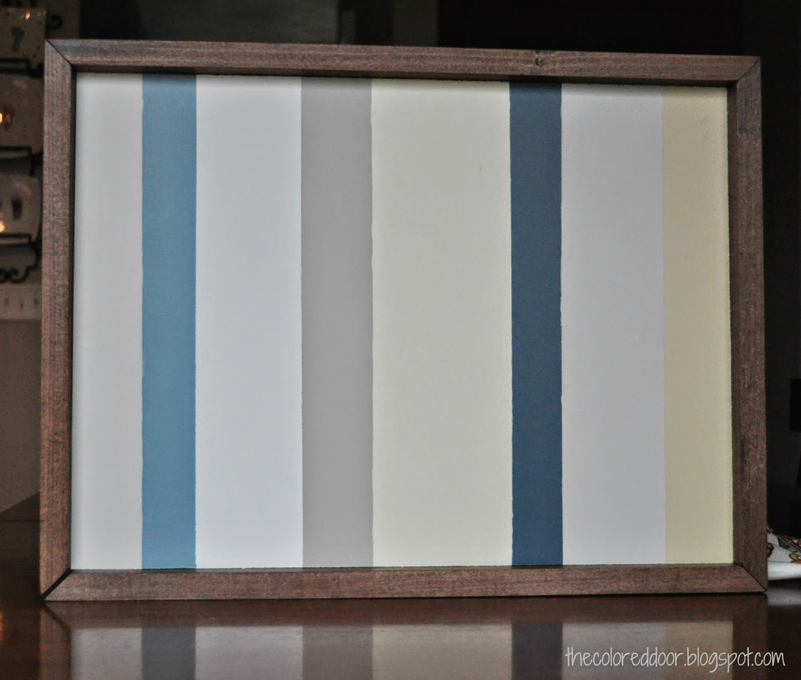 DIY striped art - the colored door
