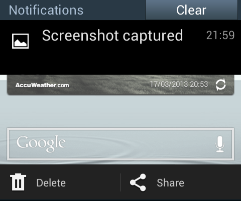 Key Combination to take Screenshot in Samsung Galaxy Grand Duos