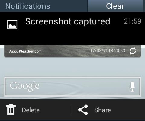 Key Combination to take Screenshot in Samsung Galaxy Grand Duos