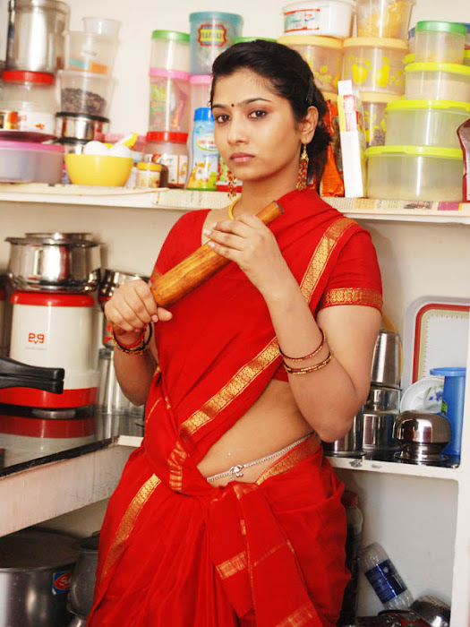 liya sree new red saree photo gallery