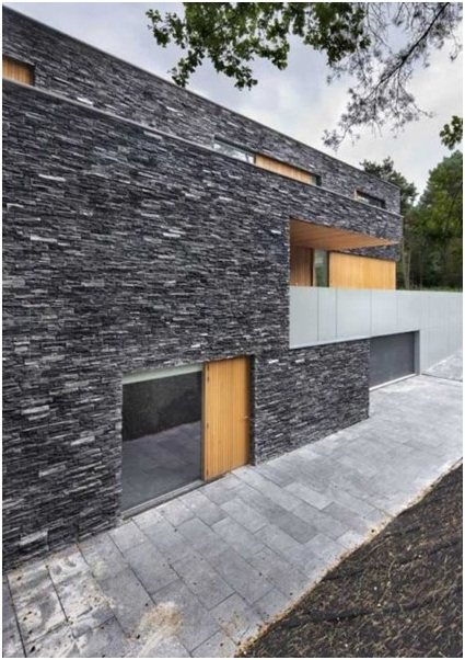 House facades made of stone