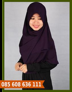 hijab segi empat ke pesta