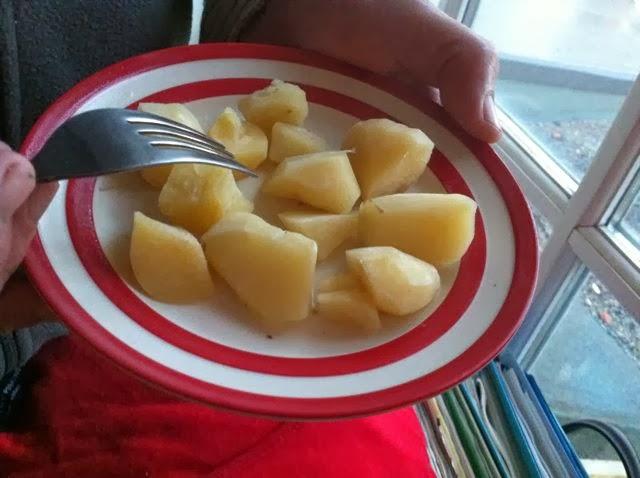 Mirabilis expansa, mauka, cooked pieces