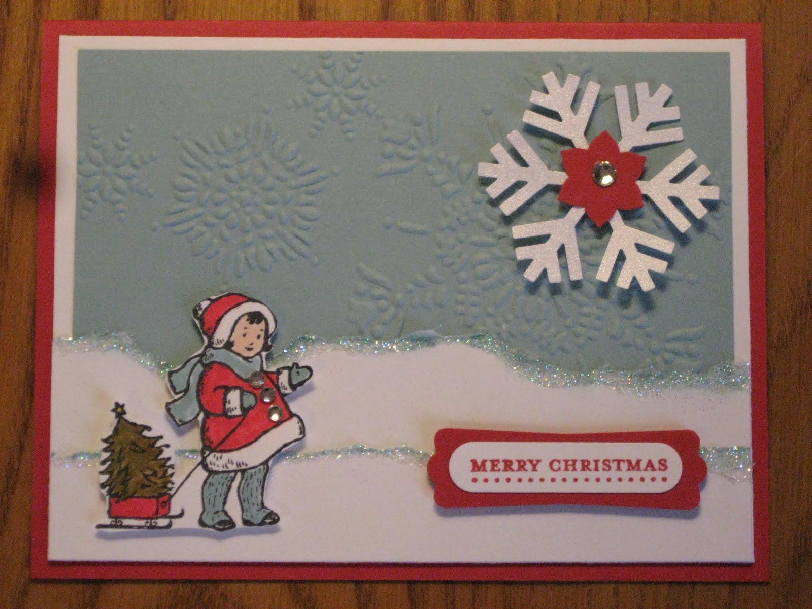 Melissas Stampin Memories Handmade Christmas Cards For Sale Come