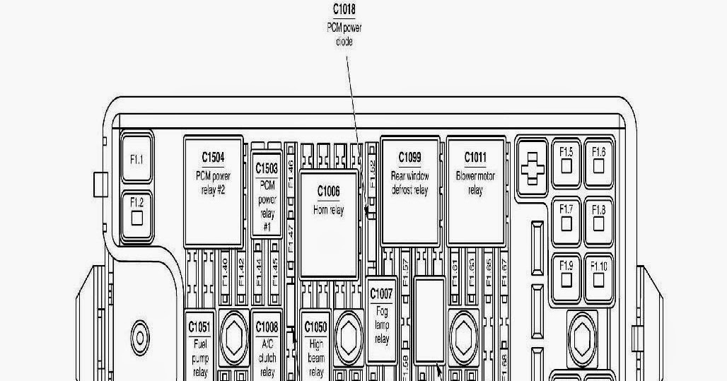 Fuse Box Diagram 2005 Ford