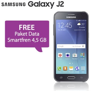 Galaxy J2 bonus Paket Data Smartfren 4.5 GB