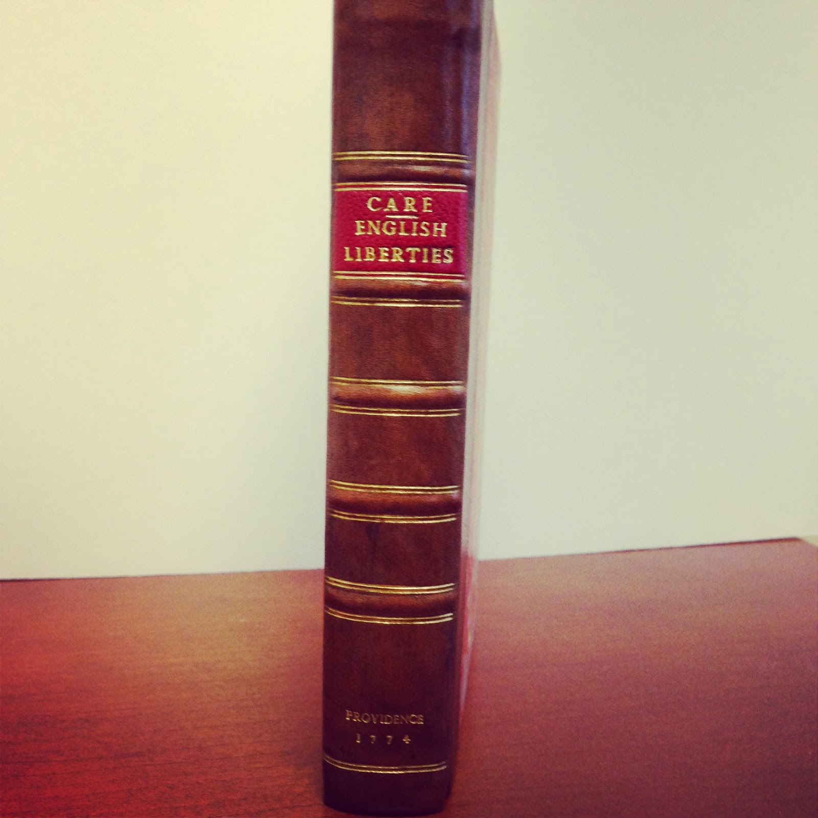Spine of Henry Care's English Liberties