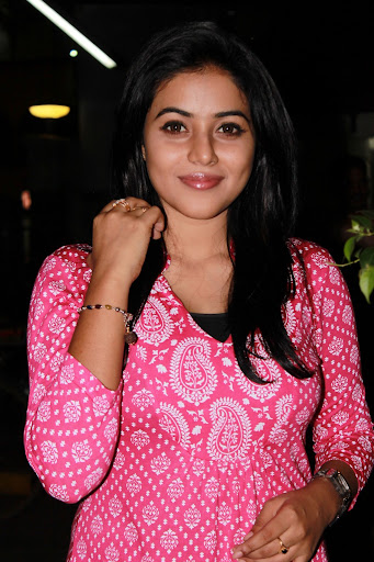 Poorna Spotted at Vithagan Press Meet HQ Pictures Stunning Beauty Poorna