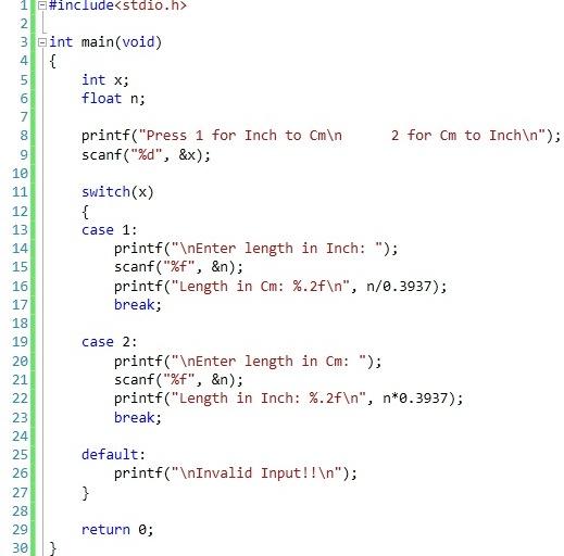 Case Statement Case Statement: Switch Case In C Programming