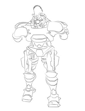 Real Steel Midas Coloring Pages