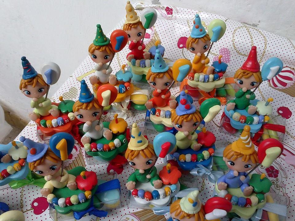 """Molto Simonahobby """"fimo e non solo"""": bomboniere primo compleanno fimo UX57"""