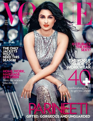 Parineeti Chopra Photos from Vogue India Magazine Cover February 2014 HQ Scans