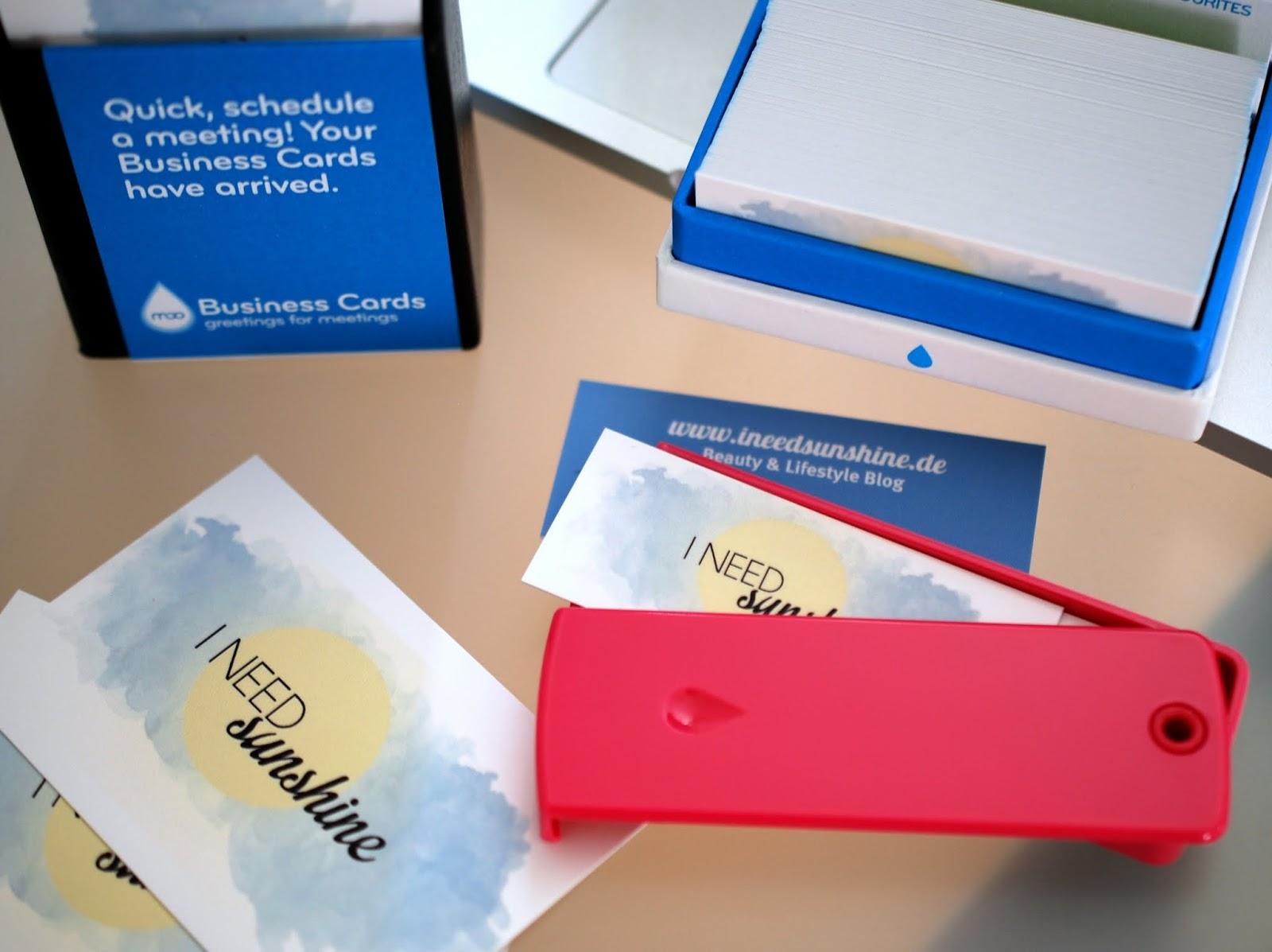 Braucht man Visitenkarten für den Blog und was sollte draufstehen?