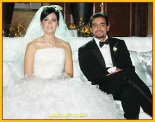 الفنان المصري هاني سلامة وزوجته بيريهان صديقة الدراسة