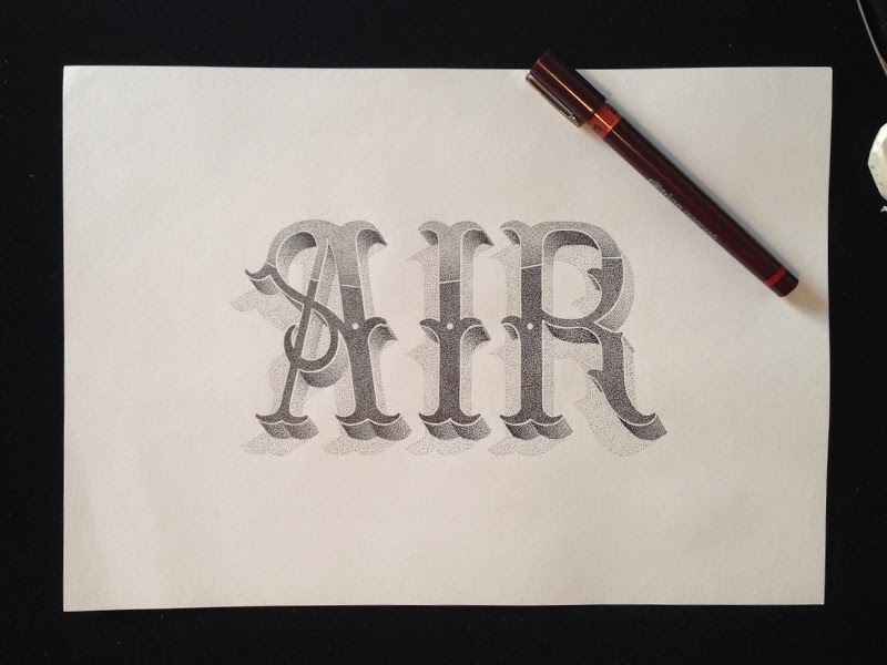 10-Xavier-Casalta-Illustrations-and-Typography-Stippling-www-designstack-co