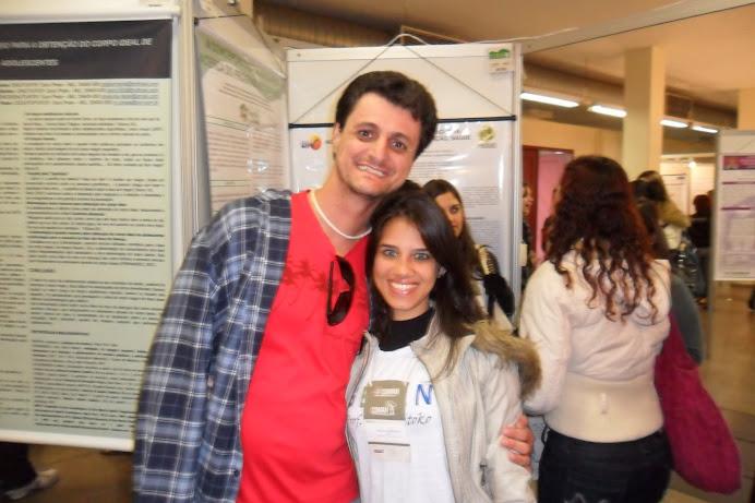 Rhayanne e prof. Marcelo Sipioni (GESAN Sul e Centro no COMAN)
