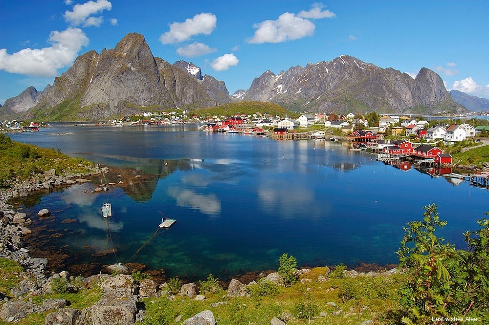 One of the beautiful norway's Village