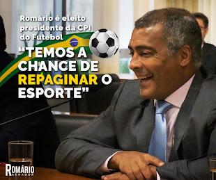 """""""SENADOR ROMÁRIO , Genial nos gramados, Romário agora é um campeão a serviço do povo."""""""