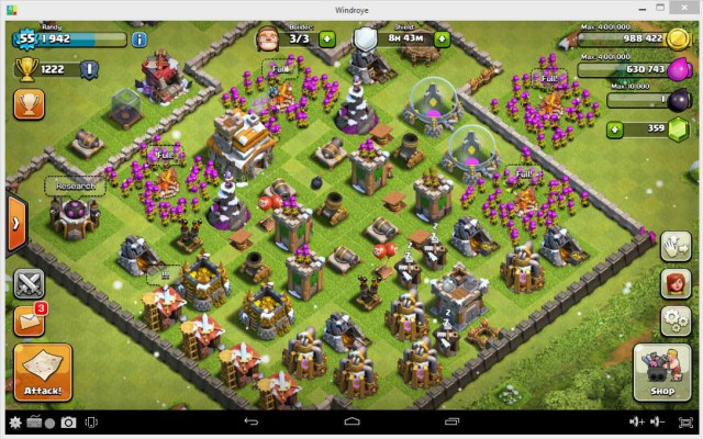 Clash of clan on Windroye